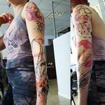 abstract minimal sleeve Tattoo Design Thumbnail