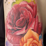 Rainbow Roses Arm Tattoo Tattoo Design Thumbnail