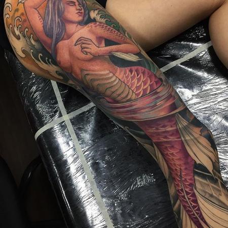 Tattoos - Neotraditional mermaid - 133093