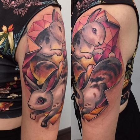 Tattoos - Neotraditional rabbit - 133095