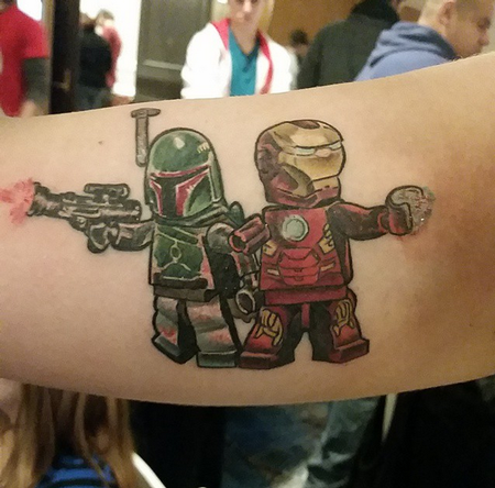 Lego Characters Tattoo Design