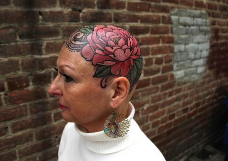 Tattoos - Tanya's peony tattoo.  - 128049