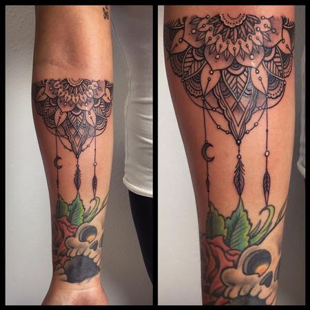 Forearm half mandala Tattoo Design Thumbnail