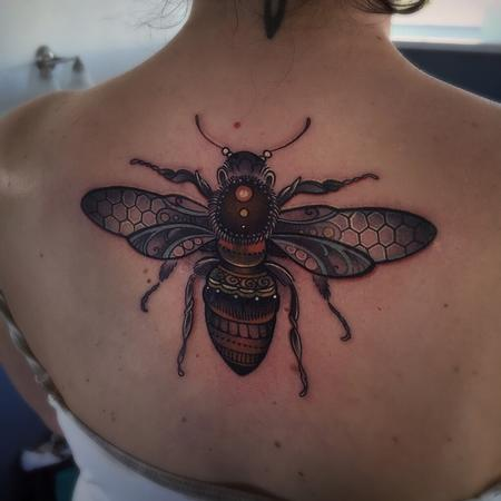 Ornamental Bee Tattoo Design Thumbnail