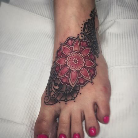 Mandala foot tattoo Design Thumbnail