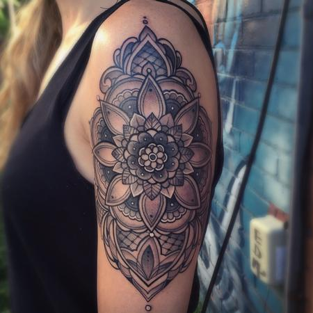 Ornamental mandala arm tattoo Design Thumbnail