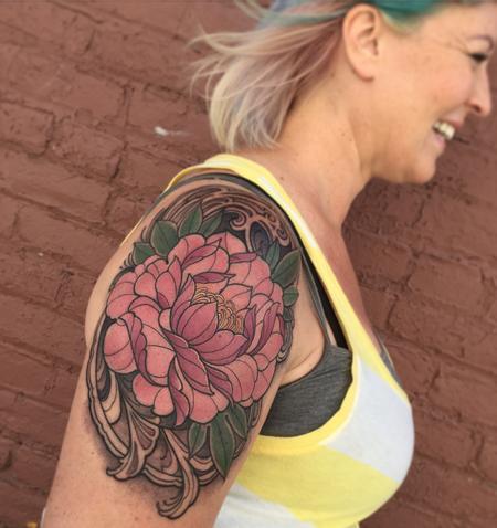 Tattoos - Pink peony tattoo - 119433