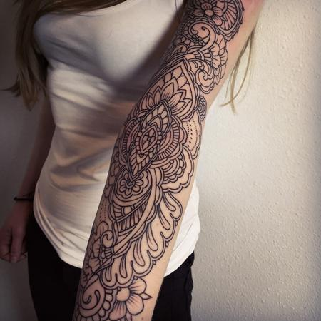 Henna inspired line work  Tattoo Design Thumbnail