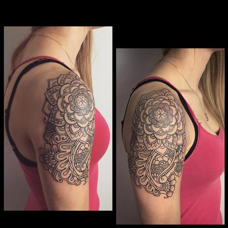 Tattoos - Henna inspired line work tattoo - 104144