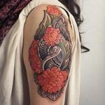 Flowers and henna arm tattoo Tattoo Design Thumbnail