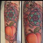 Tattoos - Colorful peach forearm tattoo - 104964