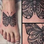 Black and gray butterfly Tattoo Design Thumbnail