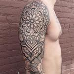 Mandala sleeve line work in progress Tattoo Design Thumbnail