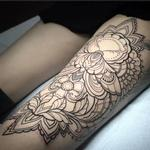 Ornamental moth tattoo on thigh Tattoo Design Thumbnail