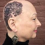 Lace and filigree head tattoo  Tattoo Design Thumbnail