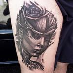 rose woman Tattoo Design Thumbnail
