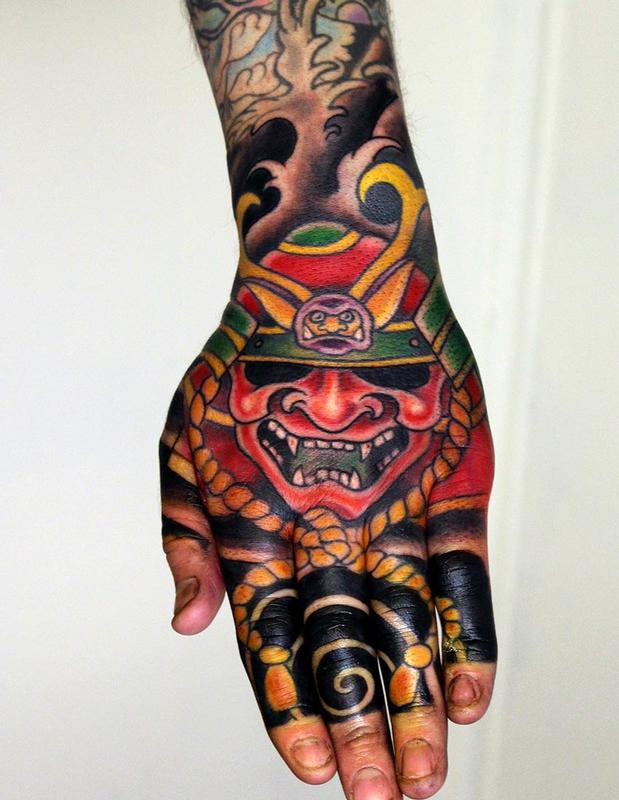 japanese hand tattoo by skeleton man tattoos. Black Bedroom Furniture Sets. Home Design Ideas