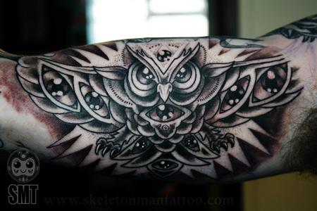 all seeing owl tattoo Design Thumbnail