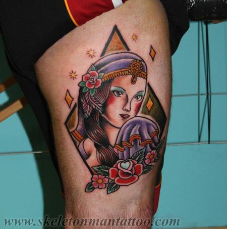gypsy girl tattoo  Design Thumbnail