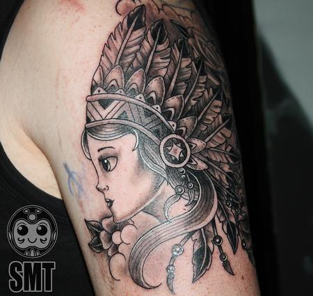 Tattoos - Woman with Headdress - 112293