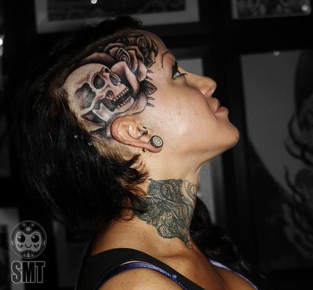 Tattoos - Skull and Rose - 112292