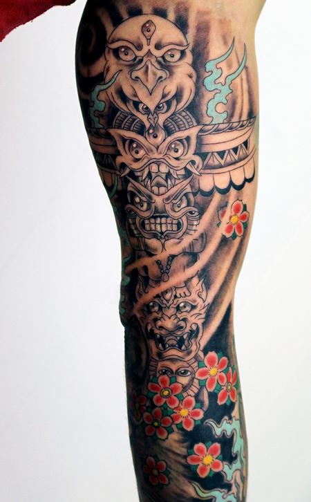 Freehand totem pole tattoo Tattoo Thumbnail