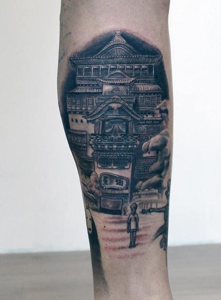 studio ghibli spirited away tattoo Tattoo Thumbnail