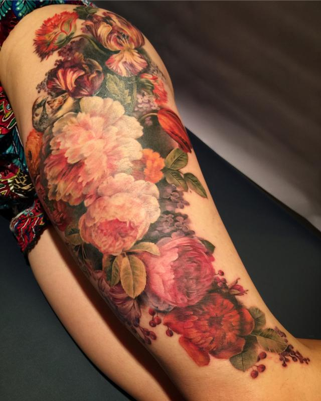 stilllife flowers by maija arminen tattoonow