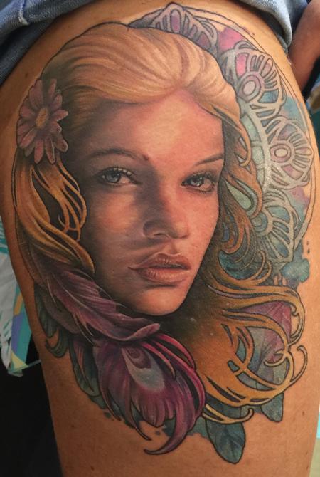 Tattoos - Dream catcher girl - 104656