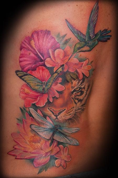 Tattoos - Hiding tiger - 104666
