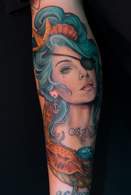 Pirate girl Tattoo Design