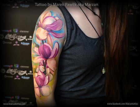 Tattoos - Magnolia flowers - 119354