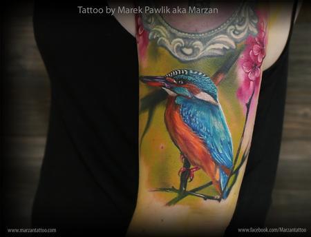 Tattoos - Kingfisher bird - 119358