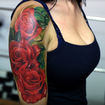 Red roses Tattoo Design Thumbnail