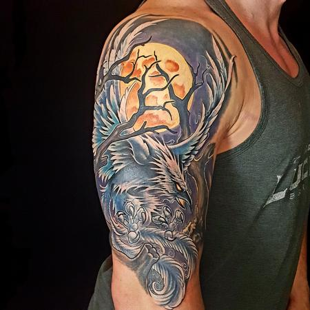 Tattoos - Blue pheonix  - 125097