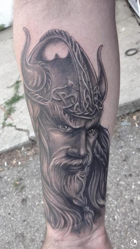 Tattoos - Viking Portrait  - 119229