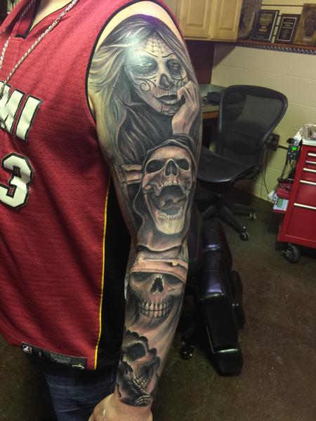 Tattoos - Skull evil - 101425