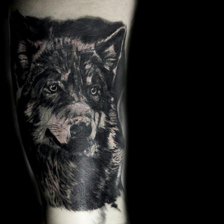 Tattoos - Wolf cover up - 106630