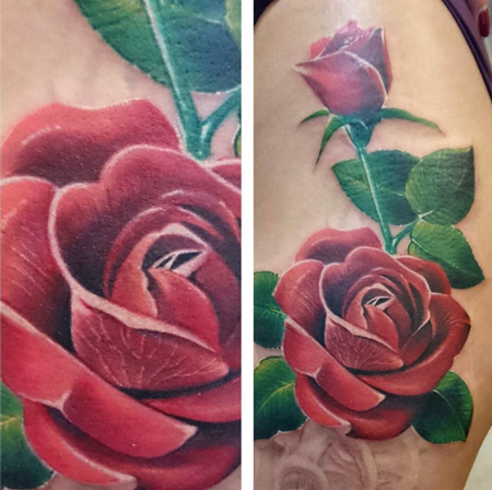Tattoos - Rose Cover-up (in progress) - 114742