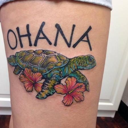 Tattoos - Ohana Sea Turtle- Instagram @michaelbalesart - 108881