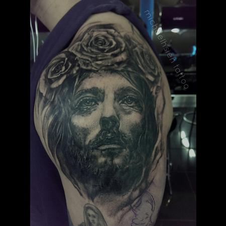 Tattoos - Jesus with rose crown - 99503
