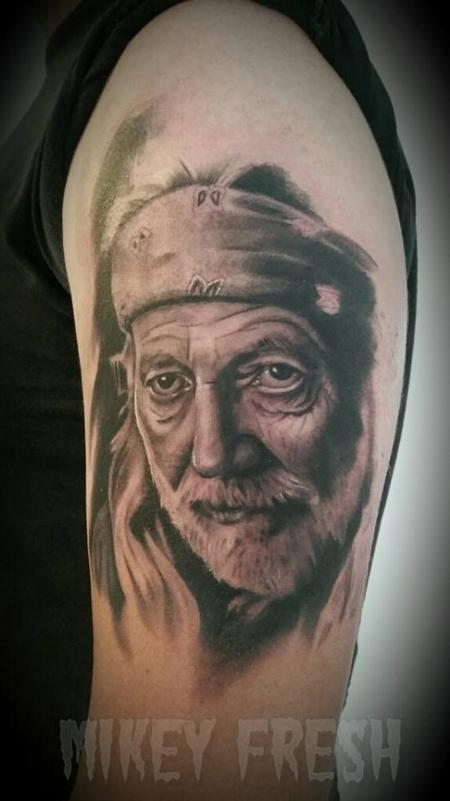 Willie Nelson Portrait Design Thumbnail