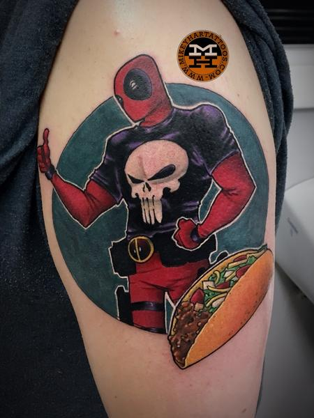 Tattoos - Dead pool and Tacos  - 132989