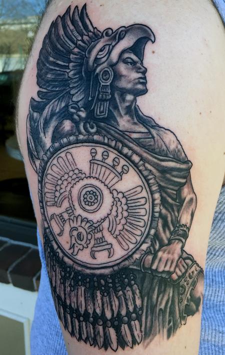 Tattoos - aztec warrior - 116160