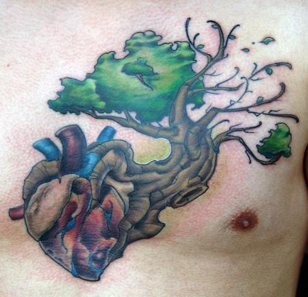 Tattoos - heart tree - 116914