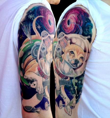 Tattoos - Space Dog with Sock-Eating Blackhole - 105047