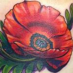 Poppy Flower on Ribs Tattoo Design Thumbnail