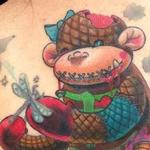 Zombie Sock Monkey with TuTu Tattoo Design Thumbnail