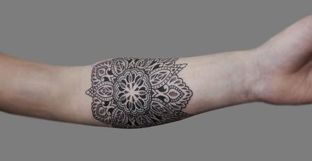 Tattoos - Dotwork linework mandala - 125807