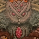 Owl Chest Piece Tattoo Design Thumbnail